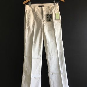 Anthropologie ivory level 99 trousers size 4 NWT